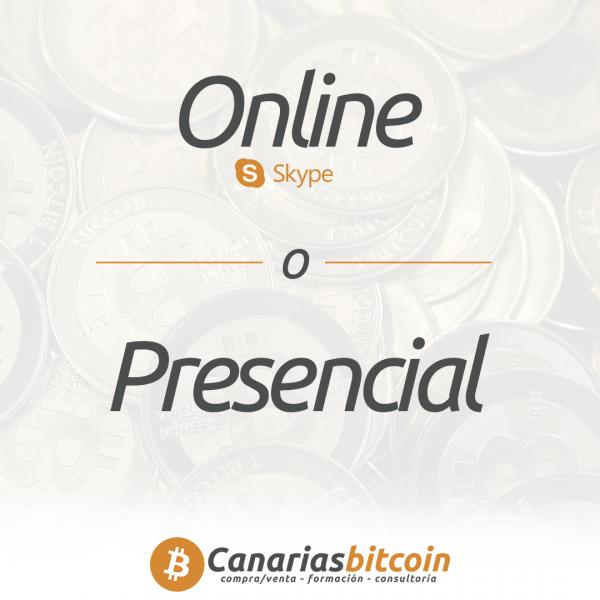 Consultoria presencial online en Bitcoin