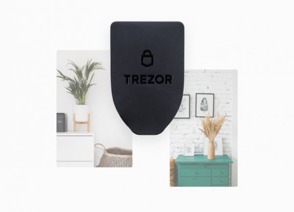 Soporte magnético de pared para esconder el Trezor Model T, tu cartera de criptomonedas